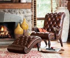 leather reclining chair and ottoman foter