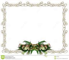 calla lilies floral border wedding invitation stock photos image