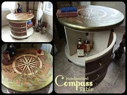 one drink table compass library table amerigo drum table uniquely grace designs