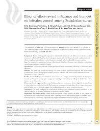 modification si e social association effort reward imbalance and burnout among pdf available