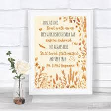 in loving memory wedding autumn fall in loving memory wedding sign print ebay