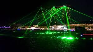 Bay Bridge Light Show Singapore August 31 2015 Spectacular Laser Light Show Beamed