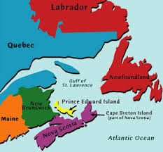 map canada east coast map of canada east coast major tourist attractions maps