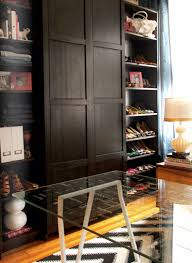 Ikea Billy Bookcase Shoes Stunning Master Bedroom Converted To Walk In Closet Office With
