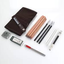 18 sketch pencils charcoal extender eraser paper pen cutter