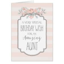 vintage birthday for aunt greeting cards zazzle