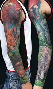 mike devries tattoos animal animal sleeve