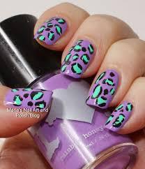 marias nail art and polish blog violas animal print nail art