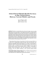 based mental health services in the united states history