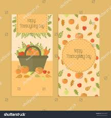 set banners flyers thanksgiving day basket stock vector 309516509