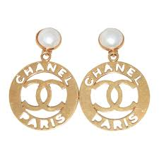 iconic earrings chanel iconic gold and pearl vintage earrings at 1stdibs