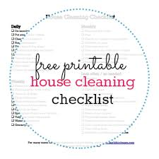 house checklist printable house cleaning checklist