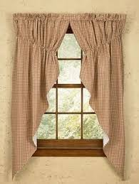 Apple Curtains For Kitchen by Burlap Apple Lined Curtain Valances Are Shown With Matching Tiers