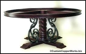 wrought iron pedestal table base wrought iron dining table bases incredible decoration iron dining