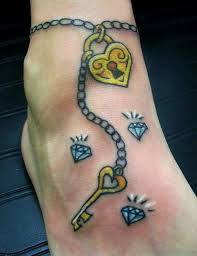 30 simple key tattoos on ankle