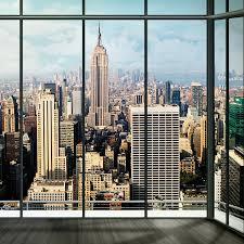 new york skyline window mural window view city skylines and window new york skyline window mural