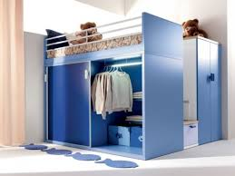 interior blue closet for small bedroom under loft bed catchy