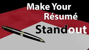 Make Your Resume Make Your Resume Standout Youtube