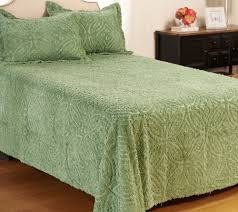 Queen Bedspreads Wedding Ring Chenille 100 Cotton Queen Bedspread With Shams