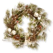national tree company 24 in artificial wreath rac