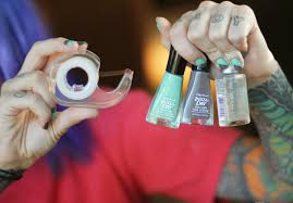 easy nail designs with 2 colors how you can do it at home