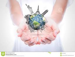 Woman hands hold travel around the world stock image image 33247863