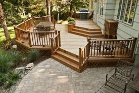 wonderful patio deck designs with deck and patio designs