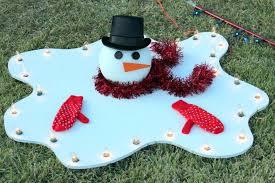 brilliant design wooden outdoor decorations snowman yard