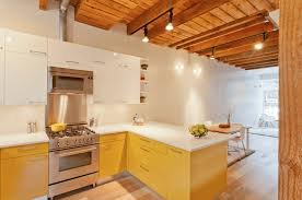 kitchen style dual tone yellow kitchen colors ideas white