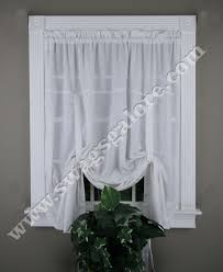 Tie Up Curtains Whitfield Jacquard Tie Up Shade White Lorraine White Curtains