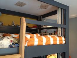 Beds With Bookshelves by Bedroom Painted Wood Bunk Bed Shelf For Cool Bedroom Storage Ideas