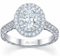 oval engagement ring with halo halo oval engagement ring with milgrain and pave accents