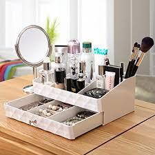 Makeup Organizer Desk Cosmetic Storage Makeup Organizer Jewelry Tray Rack