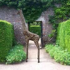 garden sculptures and ornaments large metal giraffe garden sculpture