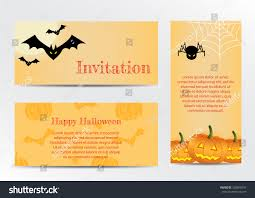 inventations halloween party traditional stock vector