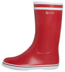 aigle red malouine rain boots booties size us 9 5 regular m b