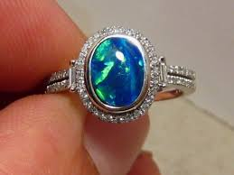 blue opal engagement rings blue opal engagement ring wedding opal engagement