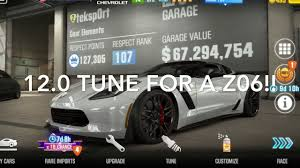 race to win corvette csr2 12 0 second corvette z06 s best tune fastest max tune win