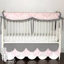 Pink White U0026 Gray Baby Girl Crib Bedding Set