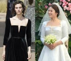 wedding dress song the on song hye kyo s stunning wedding gown