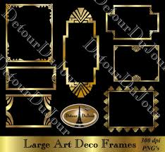 printable art deco borders 7 art deco borders frames digital gold metallic by detourdujour