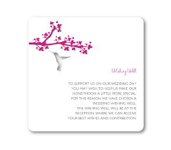 wedding wishes gift registry hummingbird gift registry or wishing well card fifyfofum designs