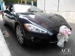 pink maserati interior maserati granturismo wedding cars decorations