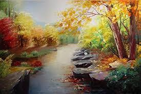 Jungle Home Decor Jungle Creek Oil Painting Hand Painted Original Landscape Painting