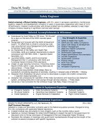 Resume Job Accomplishments Examples by Process Safety Engineer Sample Resume Haadyaooverbayresort Com