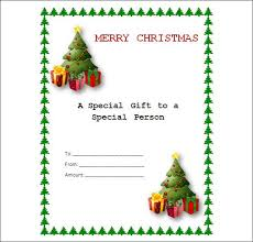 christmas blank gift certificate template free rainforest
