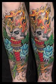 traditional skull torch by james corgill tattoonow