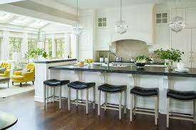 leather counter stools kitchen transitional with beveled edge