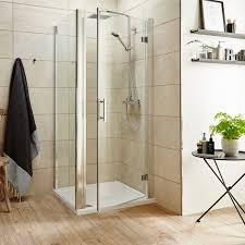 premier pacific hinged shower door with optional side panel