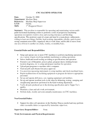 resume sle template cnc machine operator resume sle machine operator resume pdf